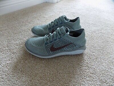 low priced f61d3 63ba1 New Womens 6.5 9 Nike Free Rn Flyknit 2018 Running Shoes Mica Green 942839  300 •
