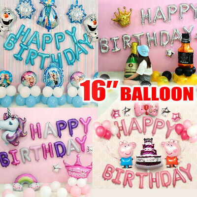 AU6.99 • Buy Happy Birthday Letters Foil Balloon Birthday Party Decorations Banner