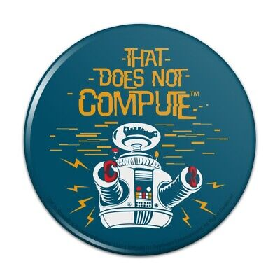 AU5.79 • Buy Does Not Compute B9 Robot Lost In Space Pinback Button Pin