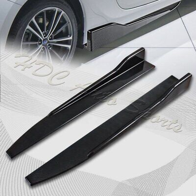 $29.99 • Buy Universal Carbon Style Side Skirt Rocker Splitters Diffuser Winglet Wind 31 X4