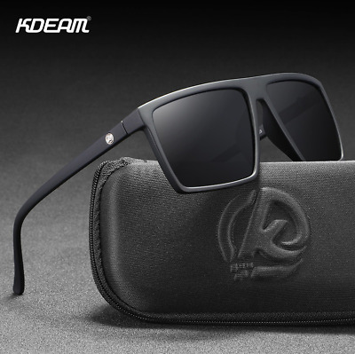 AU18.53 • Buy KDEAM Men TR90 Polarized Sport Sunglasses Outdoor Driving Fishing Square Glasses