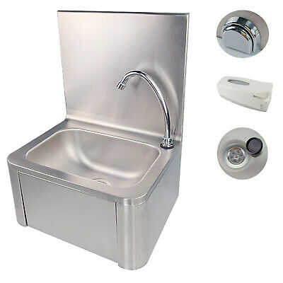 Commercial Knee Operated Hand Wash Basin Sink Waste Hand Free Stainless Steel  • 139£