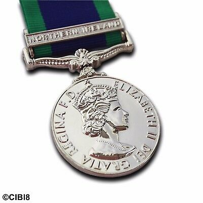 £11.69 • Buy GSM Northern Ireland Medal FULL SIZE WITH CLASP General Service 1962 Campaign