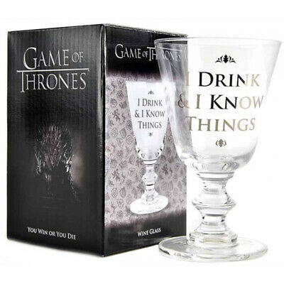 £13.99 • Buy Game Of Thrones Glass Wine Goblet  I Drink & I Know Things  Gift Boxed 275ml