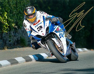 Guy Martin Signed 2012 Isle Of Man TT 16 X 12 Picture & We Can Show You Proof • 39.99£