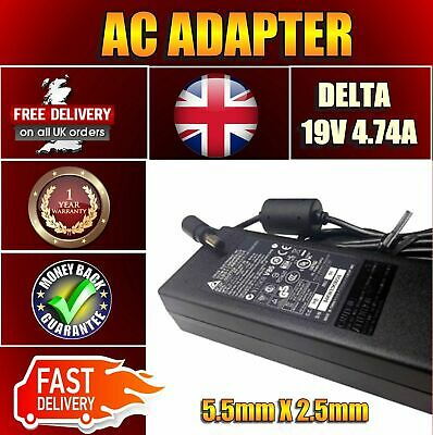 £15.95 • Buy 90W Delta Toshiba Equium P200D-139 19V 4.74A Adapter Power Supply Battery