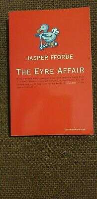 The Eyre Affair Jasper Fforde - UK Proof  - Signed.  • 60£