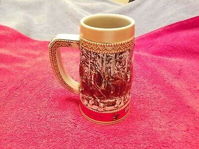 $ CDN19.99 • Buy 1987 Anheuser Busch AB Budweiser Bud Holiday Christmas Beer Stein Clydesdales