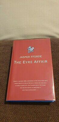 The Eyre Affair Jasper Fforde - UK - H/B - First Edition - Signed  • 150£