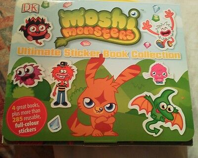 Moshi Monsters Ultimate Sticker Collection Book . 4 Books +250+ Stickers. New • 4.50£