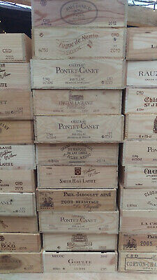 £12.95 • Buy Wooden Wine Box Crate ~ 6 Bottle Flat Size. French ,Genuine,Storage/Planter