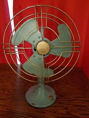 NEW METAL LIGHTWEIGHT BLUE FAN DISPLAY DECOR Retro Old Vintage Style Stand  • 35.66£