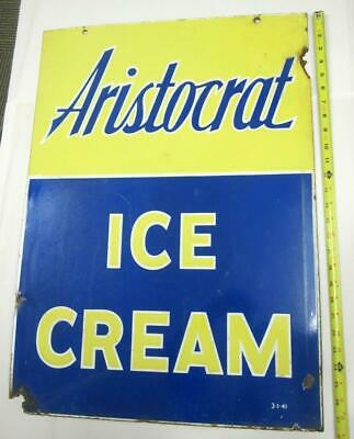 $ CDN798.46 • Buy Aristocrat Ice Cream Sign Doubled Sided Porcelain Sidewalk Advertising Rare Old