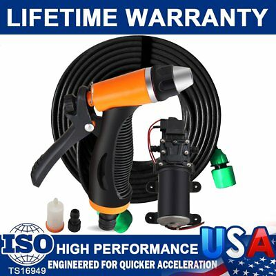 $25.73 • Buy 12V 80W High Pressure Self-Priming Electric Portable Wash Washer Kits Water Pump