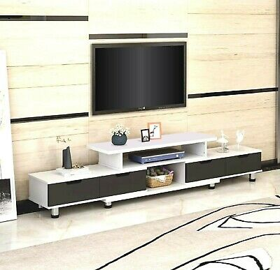 AU125.10 • Buy 160-230cm Large Adjustable TV Stand Entertainment Unit Cabinet Glass Top Cover