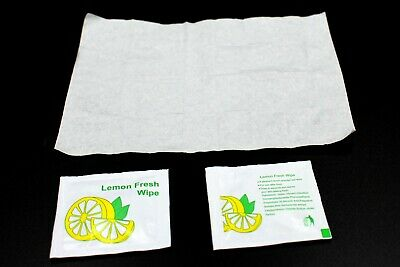 SMALL Lemon Scent Wet Hand Wipes Towels Individually Wrapped Restauran Takeaway • 24.99£