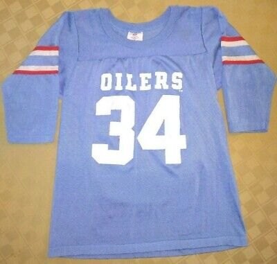 61c3f75e9 Rare Vintage Rawlings #34 Earl Campbell Houston Oilers Football Jersey -  Youth M • 26.99