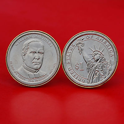 $26.95 • Buy US 2013 Presidential Dollar BU Unc Coin Cufflinks - William McKinley