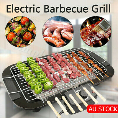 AU45.50 • Buy Portable Electric BBQ Grill Teppanyaki Smokeless Barbeque Pan Hot Plate Table