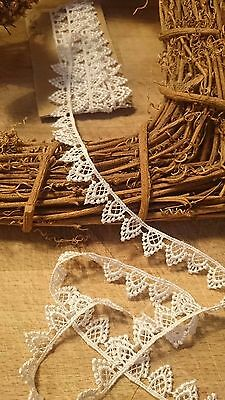 15mm/5/8  Pretty White Pointed Edge Guipure Lace Trimming. Sewing/Crafts • 3.59£
