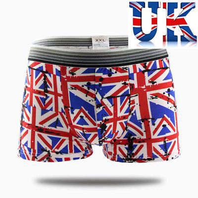 Men's Sexy Union Jack Print Boxers **To Fit 31 - 40 **UK Seller** • 5.99£