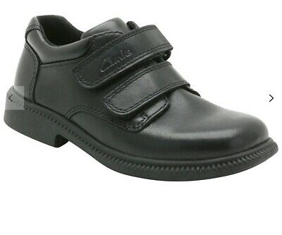New Clarks Deaton Infant Black Leather Shoe - 8.5UK H.  • 12.99£