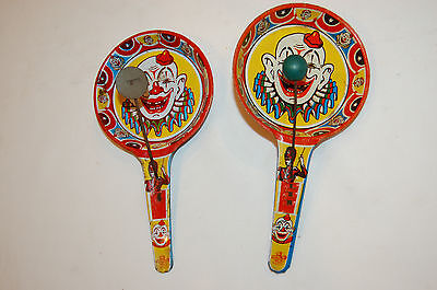 $ CDN19.45 • Buy 2 Vintage US Metal Toys Noise Maker, Clowns, Free Shipping.