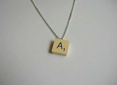 £7 • Buy English Gems Scrabble Necklace With Choice Of Letters A-Z In An Organza Gift Bag