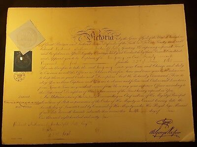£336.41 • Buy Queen Victoria Era Prince George Signed Autograph On Warrant Document - 1865
