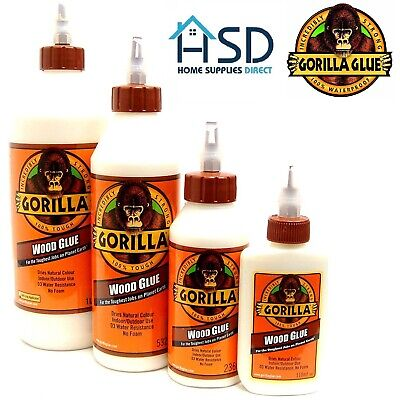 £6.49 • Buy Gorilla Wood Glue Water Resistant PVA Strong Fast Bond Non Foaming Adhesive NEW