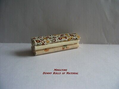 Dolls House Haberdashery - Miniature Dummy  Rolls Or Bales Of Material • 2£