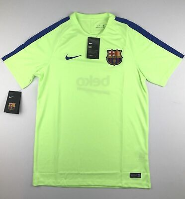 b0cb3e4115e Nike Mens Medium FC Barcelona Neon Green Soccer Authentic Training Jersey  NWT • 29.99