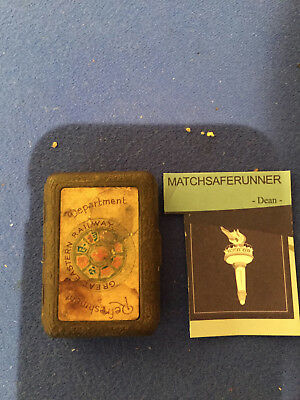 Great Eastern Railway Bryant & May's London Hotel Tin Match Holder Vesta Case • 49.99£