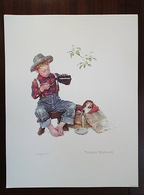 """$ CDN62.52 • Buy Norman Rockwell Lithograph """"Mysterious Malady"""""""