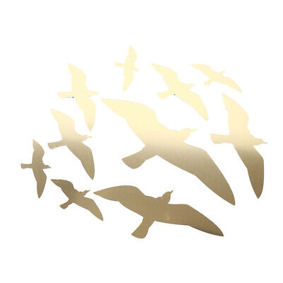 Seagull Shaped Acrylic Mirror Wall Sticker Surface Wall Stickers Home Decor 6A • 3.22£