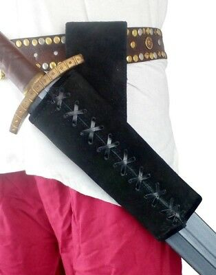 LARP Medieval Angled Weapon Loop Frog Part Scabbard Sword Black And Brown • 16.99£