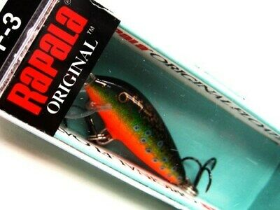 GREAT BALSA LURE F03 HS F-3 RAPALA WOBBLER ORIGINAL FLOATER HOT STEEL