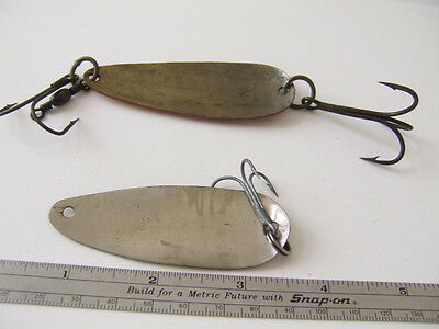 $ CDN4.32 • Buy Fishing Lures 3¼  Vintage  Unbranded Spoon Copper Color And 27/8  Folk Art