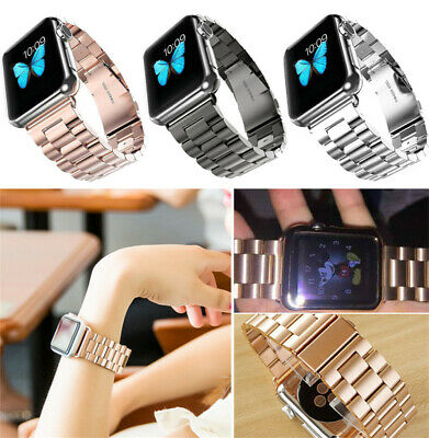 $ CDN12.08 • Buy Stainless Steel Watch Band Strap For Apple IWatch 38/42mm 40/44mm Series 2 3 4 5