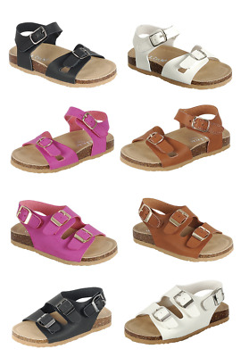 $13.95 • Buy Baby Toddler Girls  Double -Strap Cork-Bed Open Toe Sandals Summer Beach Shoes