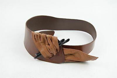 ORCIANI Brown Thick Belt, Large • 15.99£