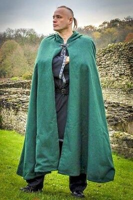 £59.99 • Buy Wool Cloak Cape Robe Mantle With Cotton Lining LARP Reenactment In 5 Colors