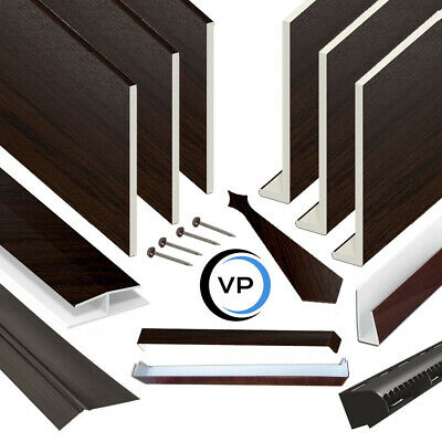 Rosewood UPVC Fascia Cover Capping Board & Flat Soffit Boards 9mm X 5m Length  • 34.95£