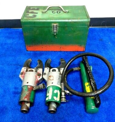 £431.12 • Buy Pair Greenlee 750 751 Hydraulic Cable Cutter & 767 Hand Pump In Metal Case