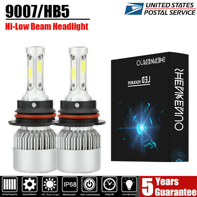 $22.31 • Buy Fit For 1999-2004 Ford Mustang Pair 9007/HB5 LED Headlight High-Low Beam Bulbs
