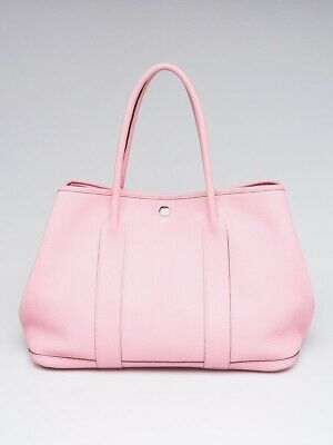 3fad0e405c3c Hermes Rose Sakura Negonda Leather Garden Party 36 Tote Bag • 2