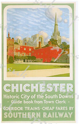 £5.13 • Buy Vintage Southern Railways Chichester Railway Poster A4/A3/A2/A1 Print