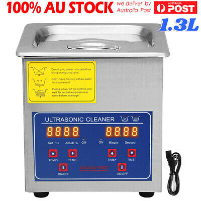 AU73.59 • Buy 1.3L Digital Ultrasonic Cleaner Industry Stainless Cleaning Tank Heater Timer
