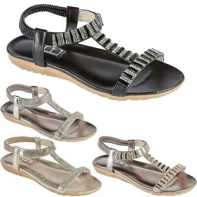 Womens Ladies Wedge Summer Beach Fashion Strappy Comfort Sandles Shoes Sizes  • 12.95£