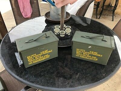 $37.95 • Buy (2-PACK) 50 Cal M2A1 AMMO CAN VERY GOOD CONDITION * FREE SHIPPING *